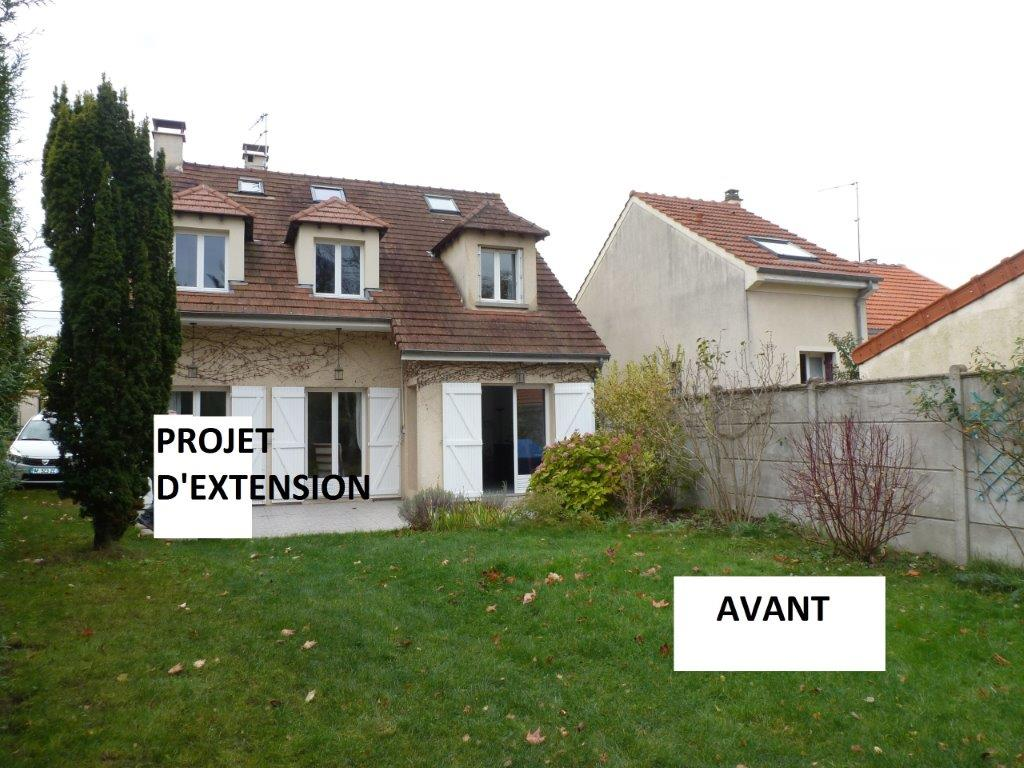 Extension ossature bois maison essonne seine marne val de for Maison atypique ile de france