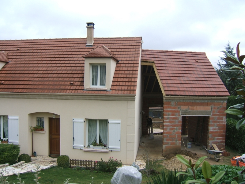 Extension et construction traditionnelle sept r alisations for Extension brique