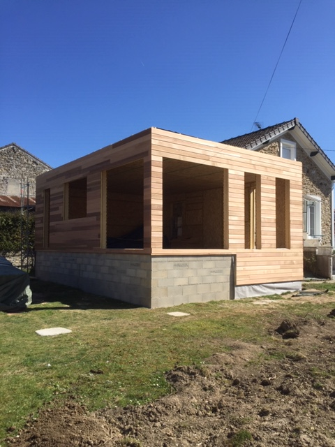Extension d'un pavillon en 'ossature bois